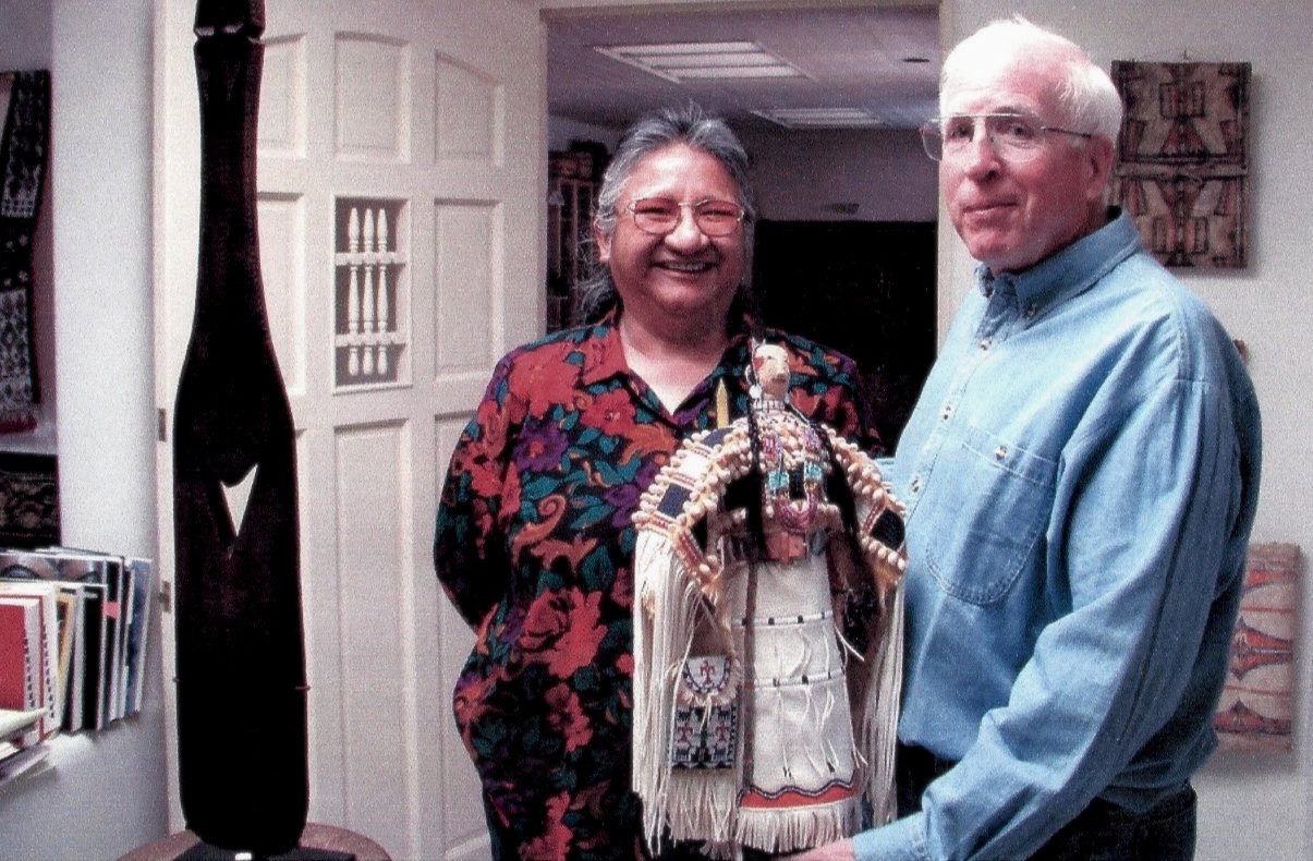 Good friends, Joyce Growing Thunder and her family opened the Northern Plains world to Ted Coe.